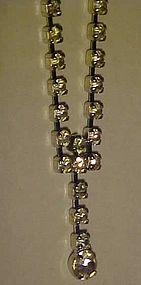 Vintage all rhinestone choker necklace