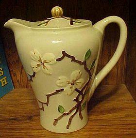 Vintage Orchard Ware dogwood coffee pot California