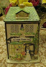 Ye Olde Flower Shop ceramic cookie jar