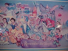 Framed Disney World Print 25 years remember the magic