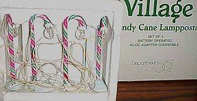Dept 56 North Pole candy cane lamp posts MIB  #52621