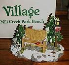 Department 56 Village Mill Creek Park bench 52654