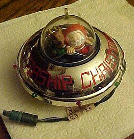 Hallmark Magic ornament Starship Christmas 1990