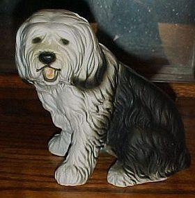 """Nice 6"""" Sheep dog porcelain figurine"""