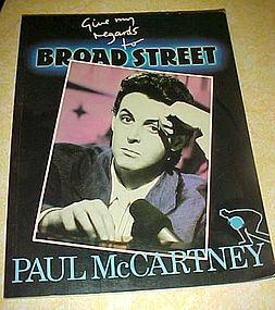 Paul McCartney Give my regards to Broad Street book