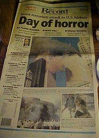Original complete 9-11 Newspaper Special Edit 9/12/01