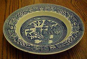 Swinnertons blue Old Willow rimmed cream soup bowl