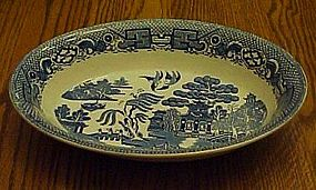 Swinnertons blue Old Willow oval vegetable serving bowl