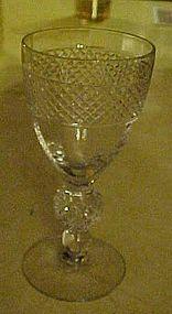 """Morgantown Eton pattern 4 3/4""""  wine glass"""