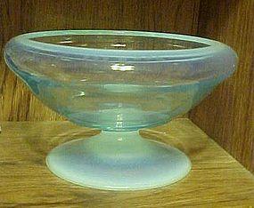 """Fostoria Seascape 8.5"""" footed bowl Caribee blue"""