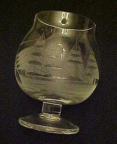 "Toscany Clipper Ship small brandy glass 3 1/2"""