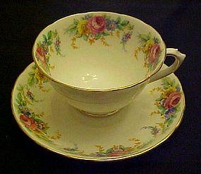 Tuscan bone china cup and saucer Garland pattern