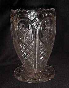 Antique EAPG ornate star celery vase by Tarentum Glass