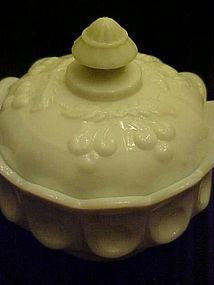 Westmoreland covered honey jar Cherry pattern