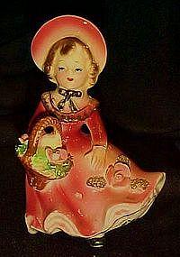 Bradley California Creations girl with basket figurine