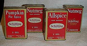Vintage 1933-1950 assorted Spice tins your choice 2 0z