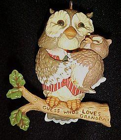 Hallmark 1994 Hallmark Grandpa owl ornament