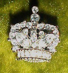 Sparkling Rhinestone crystals crown pin