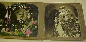 Stereoscope cards President Wm McKinley funeral 1901