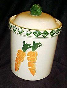 Treasure Craft Garden Patch cookie jar  sponged carrots