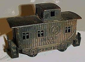 Collectible metal LS & S train caboose pncil sharpener