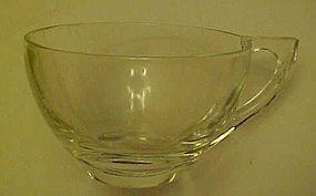 Vintage Hazel Atlas clear snack set cup