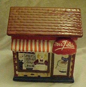 Mrs. Fields Bakery ceramic cookie jar