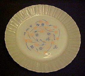 Termocrisa milk glass  dinner plate peach blue floral