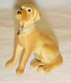 Hagen Renaker miniature golden lab figurine