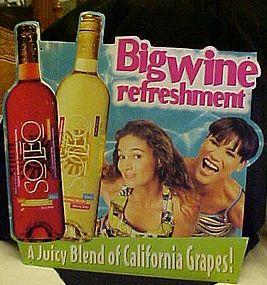 Soleo California wine tin advertising sign 1998