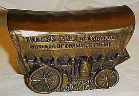 Morris plan of California metal conestoga wagon bank