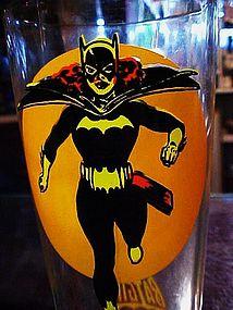 Pepsi Moon Batgirl promotional drinking glass DC Comics