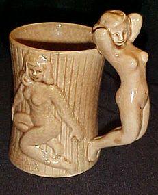 Vintage Nude lady mug Japan