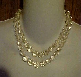 Vintage double strand faceted crystal beads