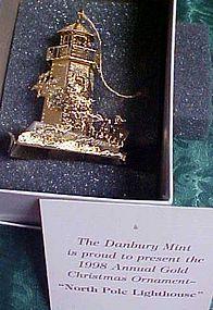 Danbur Mint  North Pole Lighthouse ornament 1998