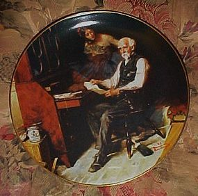Norman Rockwell The love letters 5th issue plate