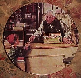 Norman Rockwell His First Pencil Heritage series plate