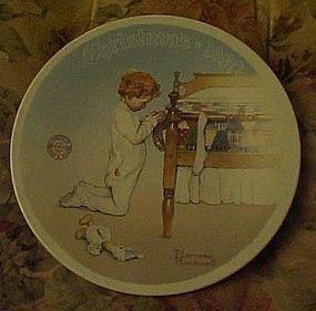 Norman Rockwell A Christmas Prayer 1990 plate