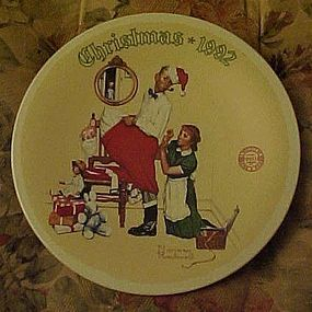 Norman Rockwell plate The Christmas Surprise 1992