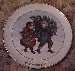 Avon 1981  Plate Sharing the Christmas Memories