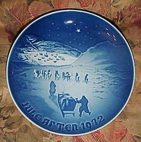 Bing Grondahl Christmas in Greenland plate 1972