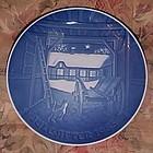 Bing Grondahl Christmas eve at the farmhouse plate