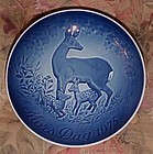 Bing Grondahl Mothers day 1975 Deer fawn's plate