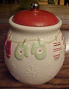 Hallmark Winter Mittens cookie jar