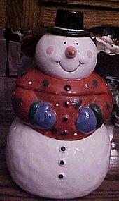 Coco Dowley Snowman cookie jar like new