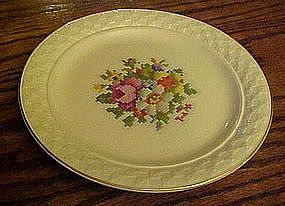 Taylor Smith Taylor petit Point Bouquet Dinner Plate