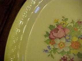 """Taylor Smith Taylor Petit-Point Bouquet 11 1/4"""" platter"""