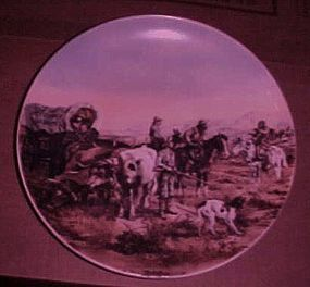 Antique Trader Charles Russel plate Doubtful Visitor