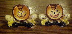 Vintage Anthropomorphic baseball mitts shakers