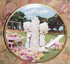 Precious Moments plate, Thee I Love